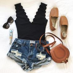 Body Suit Outfits, Dress Outfits, Casual Outfits, Fashion Outfits, Womens Fashion, Fashion Trends, Dresses, Pool Day Outfits, Cute Spring Outfits