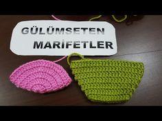 Ponponlu kırmızı patik yapımı (kolay patik yapımı,crochetslippers) - YouTube