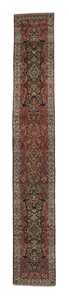 Antique Persian Hamadan Runner, Extra Long Persian Runner | From a unique collection of antique and modern persian rugs at https://www.1stdibs.com/furniture/rugs-carpets/persian-rugs/