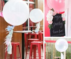 Fun, airy balloons and tassels.