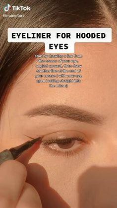 Edgy Makeup, Makeup Eye Looks, Eyeliner Looks, Eye Makeup Art, Natural Eye Makeup, Eyeshadow Makeup, Hair Makeup, Natural Everyday Makeup, Grunge Eye Makeup