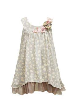 Baby Sara Sweet Fizz Flower Trim Dress