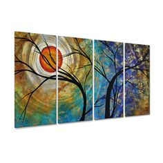 @Overstock - Bring a splash of surreal beauty to your home's walls with this metal wall sculpture by Megan Duncanson. This metal artwork features a unique brushed metal design which creates a three dimensional visual effect comparable to a hologram.  http://www.overstock.com/Home-Garden/Megan-Duncanson-Radiant-Joy-Metal-Wall-Sculpture/6735439/product.html?CID=214117 $233.99