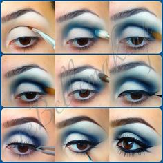 7e9e8430d9f3 Winter Wonderland frosty blues and whites eye makeup White Makeup, Love  Makeup, Black Eye