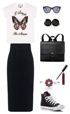 """Untitled #164"" by madteapartydl ❤ liked on Polyvore featuring Gucci, Le Specs, 10 Crosby Derek Lam, Converse, Monki, Bobbi Brown Cosmetics, casual, chic and sporty"