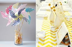 Chevron Wedding Details! <-- Lex, do you like these? I think we could do something fun with chevrons (zigzags), but it's totally up to you :)