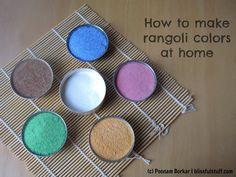 How to make rangoli colors at home | DIY Rangoli colors using rice flour...