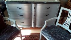 French dresser painted in shabby paints silver and smoke shimmer French Dresser, Upcycled Furniture, Custom Design, Shabby, Smoke, Urban, The Originals, Silver, Home Decor
