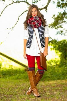 Coco & Simone - Ivy League Navy and White Stripe Puffer Vest