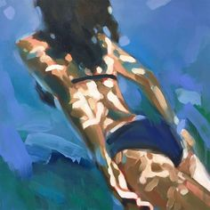 "to Leonard"" - Elizabeth Lennie, oil on canvas {contemporary figurativ. -""Listening to Leonard"" - Elizabeth Lennie, oil on canvas {contemporary figurativ. Inspiration Art, Art Inspo, Woman Painting, Figure Painting, Painting People, Painting Art, Body Painting, Underwater Painting, Underwater Photos"