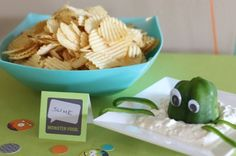 Kid's monster birthday party ideas - naming food according to the theme by jeanie