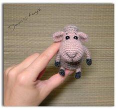 Mini Lamb OOAK Stuffed Animals Crochet Handmade Soft toy decor Amigurumi Made to order
