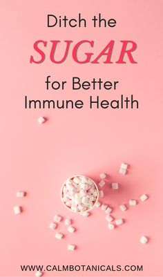 Ditch the Sugar for Better Immune Health Daily Health Tips, Health And Fitness Tips, Health Advice, Health And Wellness, Health Exercise, Herbs For Sleep, Health Site, Healthy Diet Tips, Natural Cures