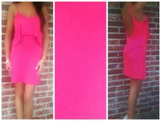 Deena Pink Ruffle Open Back Tank Dress│Andy Boutique $26 www.andyboutique.com
