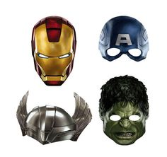Avengers Party Masks! Love them!