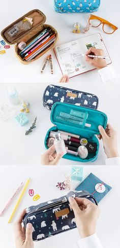 Tired of the mumbo jumbo in your bag? Insert the Ardium Block Pouch! Trust me, it's not just a pretty face, it's compact but fits so much! There's a large compartment for your pencils or pens or makeup & a mesh pocket for other objects you want to organize like erasers or lipgloss. The design is totally adorable, you can choose pretty florals or cute animals & the zipper has a matching tag! I love that it opens all the way & how it sturdy it is. You're going to want more than one! I know I…