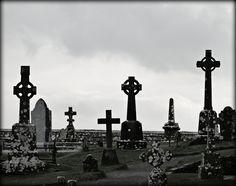 Rock of Cashel Graveyard Stones - Jon Lander ©2016 - Tipperary, Ireland