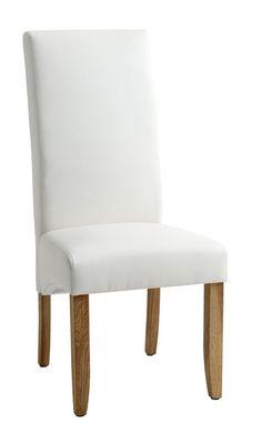 Krzesło BAKKELY skóra ekologiczna krem. | JYSK