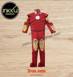 IronMan Avengers Super heroe Disfraz infantil talla 2, 4, 6, 8, 10, y 12  encuentranos en facebook como Inkku Design!