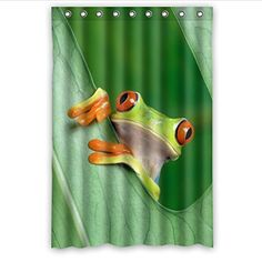 Red Eyed Tree Frog Bathroom Shower Curtain