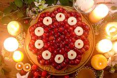 キル フェ ボン「佐藤錦のキャンドルナイトケーキ」サクランボをたっぷり使った限定タルト   ファッションプレス
