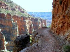 No guard rails when you hike the Grand Canyon rim to rim...only a few thousand feet drop!
