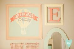 Hot Air Balloon Nursery. Collage Wall! DesignLovesDetail.com >> blog