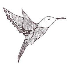 Hummingbird Doodle