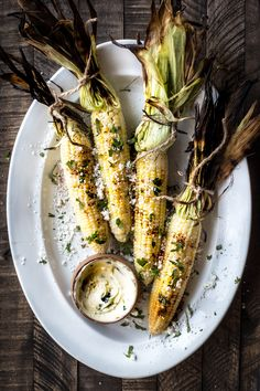 Grilled Corn With Jalapeño Honey Butter (Dishing Up the Dirt)
