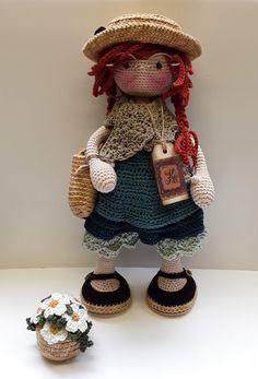 katxirula Amigurumi Patterns, Amigurumi Doll, Doll Patterns, Crochet Slipper Pattern, Crochet Slippers, Crochet Dolls, Knit Crochet, Fairy Dolls, Toys