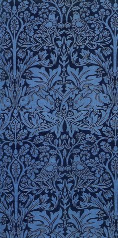 "iwantawhitepony: "" 'Brother Rabbit' textile design by William Morris, produced by Morris & Co in 1882 """