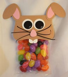 Bunny treat bag toppers.
