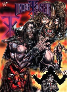 #TheUndertaker by Soulman-Inc.deviantart.com I drew this over 16 years ago... but it's still a popular piece on my Deviant Art page. I can proudly say that Mick Foley owns the original artwork!