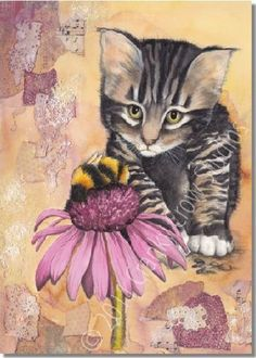 I want to reach out and pet this sweet kitten by Darlene Fletcher!