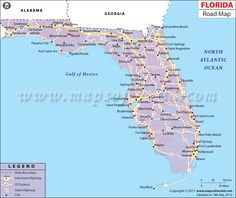Road Map Of Florida.208 Best Florida Road Trip Images Florida Holiday Destinations