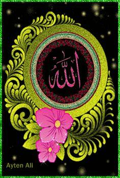 Allah Wallpaper, Islamic Quotes Wallpaper, Islamic Images, Islamic Pictures, Islamic Calligraphy, Calligraphy Art, Kaligrafi Allah, Muslim Greeting, Gas Mask Girl