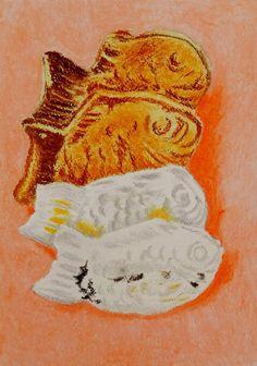 ◆ホワイトワトソン紙 F2(267×190mm)、オイルパステル◆表面には保護定着スプレーをかけています。|ハンドメイド、手作り、手仕事品の通販・販売・購入ならCreema。