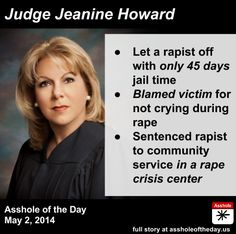 WAR ON WOMEN....ANOTHER DISGUSTING BLAME THE VICTIM!! OUR BROKEN JUSTICE SYSTEM AND A JUDGE NOT FOLLOWING THE LAW!