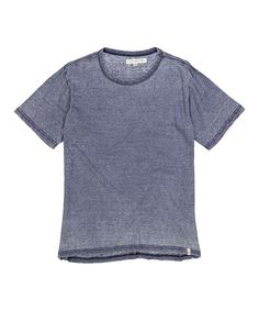 Deep Blue Burnout Crewneck Tee