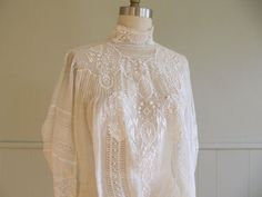 vintage blouses | 1890s vintage antique victorian lace blouse by greatestfriend on ...