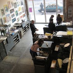 The Arm Letterpress NYC. Classes for printing.
