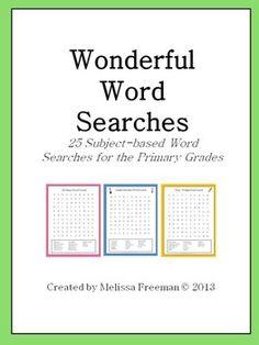 Wonderful Word Searches