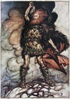 Thor Son of Odin, by Arthur Rackham