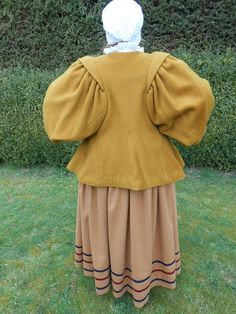 An excellent example of a 1640's waistcoat with full sleeves and deep skirts.