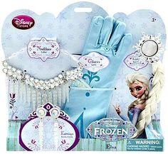 Disney Frozen Frozen Elsa Jewelry Accessory Set Necklace Earrings Braid and Gloves