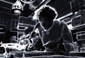 Arnaud Donckele dans son laboratoire de La Vague d'Or