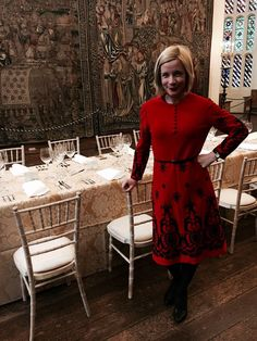The Drop-Dead Gorgeous Lucy Worsley. Pretty Outfits, Beautiful Outfits, Beautiful Things, Dr Lucy Worsley, Joan Collins, I Love Lucy, British Style, Style Me, Fashion Outfits