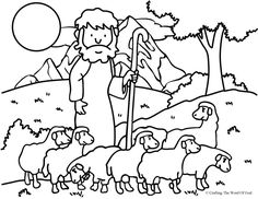 The Good Shepherd (The Lost Sheep) (Coloring Page) Coloring pages are a great way to end a Sunday School lesson. They can serve as a great take home activity. Or sometimes you just need to fill in …