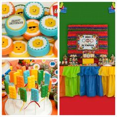 Lego Olympics themed birthday party with Lots of Awesome Ideas via Kara's Party Ideas Kara Allen KarasPartyIdeas.com #legoparty #legos #lego...
