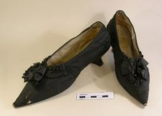 Shoes, Baddeley Boot & Shoemaker, 1790 - 1800.  Hampshire County Council.